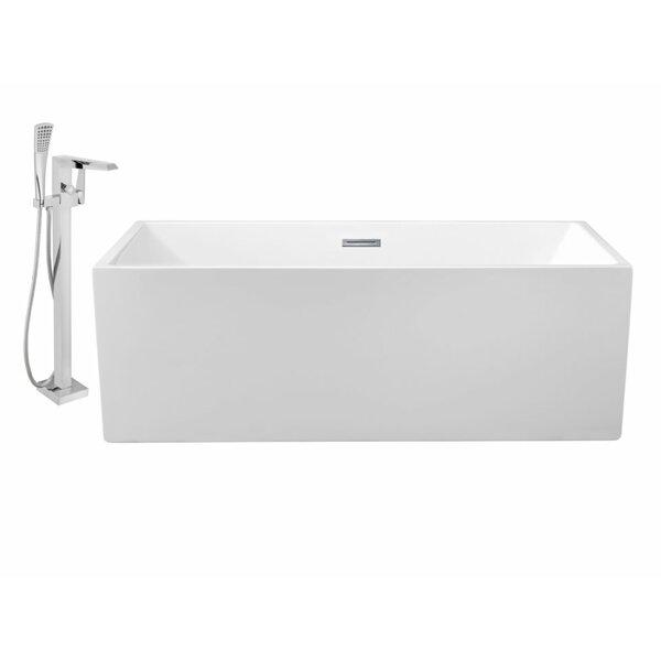 66 x 32 Freestanding Soaking Bathtub by Wildon Home ®