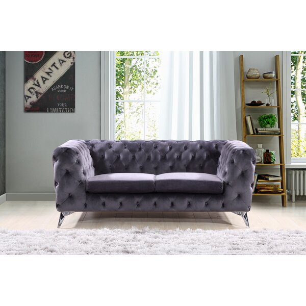 Best #1 Weiss Chesterfield Loveseat By Mercer41 Great Reviews