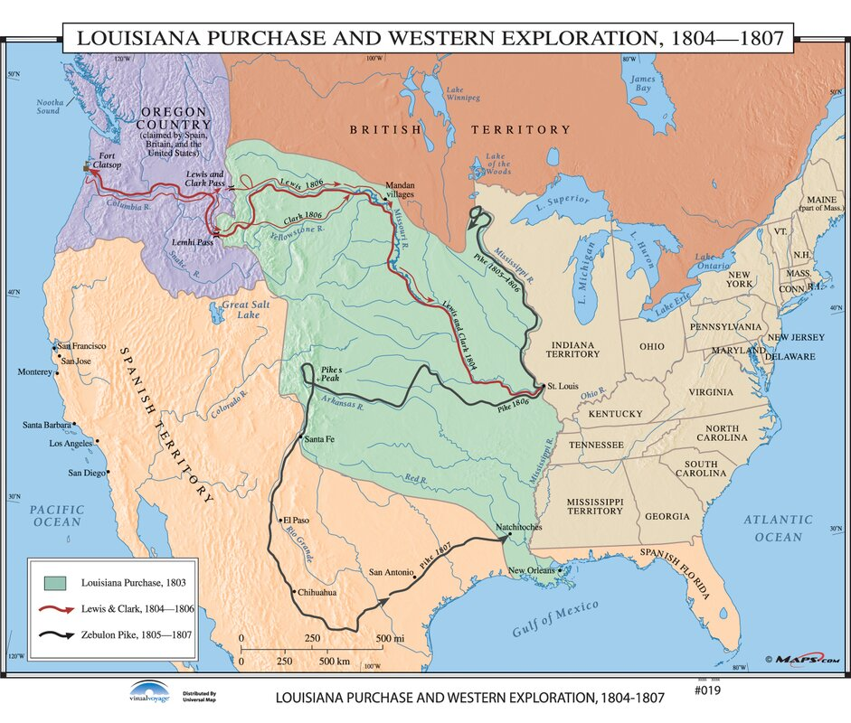 Universal map us history wall maps louisiana purchase western us history wall maps louisiana purchase western exploration gumiabroncs Image collections