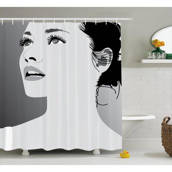 Amaris Decor Digital Art Girl Shower Curtain by Rosdorf Park