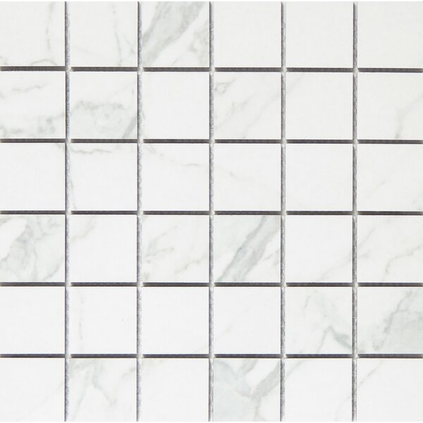 Duomo 2 x 2 Porcelain Metal Look Tile in Bianchi by Emser Tile