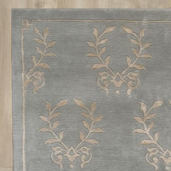 Basile Hand-Knotted Blue Area Rug by One Allium Way