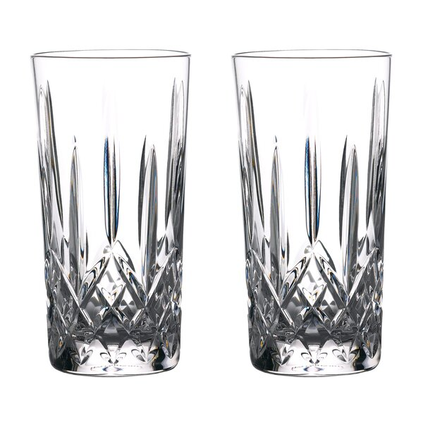 Lismore 16 Oz. Crystal Highball Glass (Set of 2) by Waterford