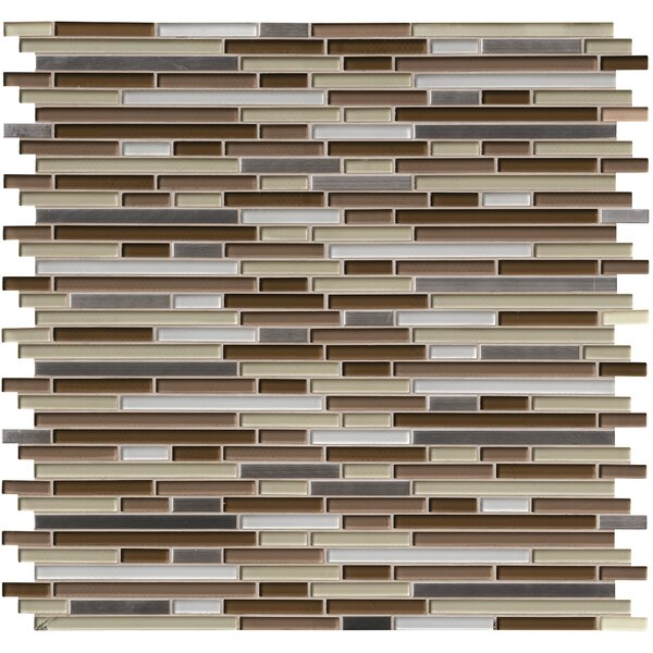 Escorial Blend Interlocking Glass Mosaic Tile in Brown by MSI