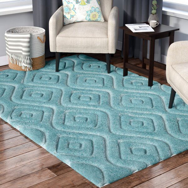 Helms Blue Area Rug by Wrought Studio