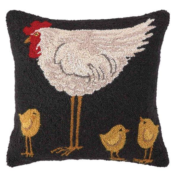 Hen and Chicks Pillow by Peking Handicraft