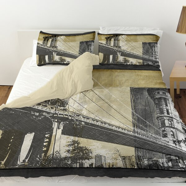 Metropolitan Collage 2 Duvet Cover by Manual Woodworkers & Weavers