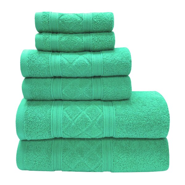 Graford 6 Piece Cotton Towel Set by Charlton Home
