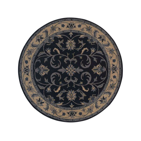 Bovill Agra Oriental Hand-Tufted Wool Blue/Beige Area Rug by Canora Grey