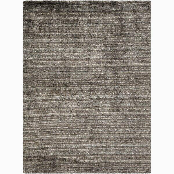 Cyrill Gray Stripe Area Rug by Latitude Run
