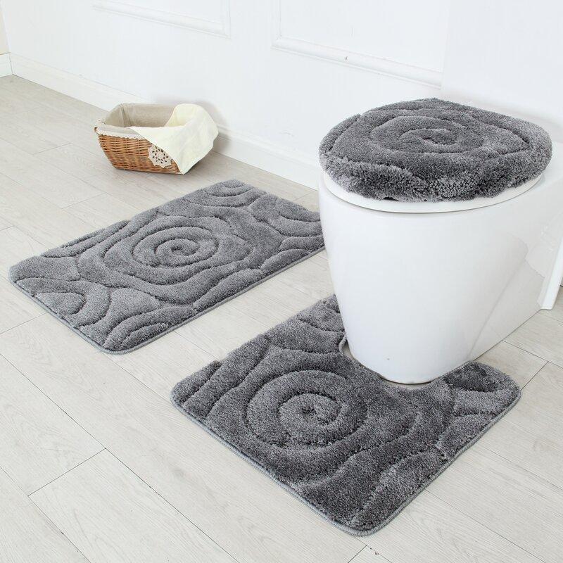 High Quality Natural Rubber Bath Mat 5 Piece Rug Set Find Complete Details About