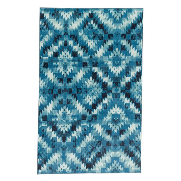 Amblewood Navy Area Rug by Bungalow Rose