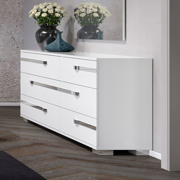 Alpes 6 Drawer Double Dresser by Orren Ellis