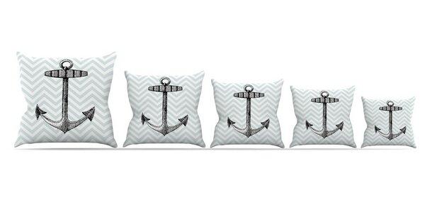 Anchor Throw Pillow by East Urban Home