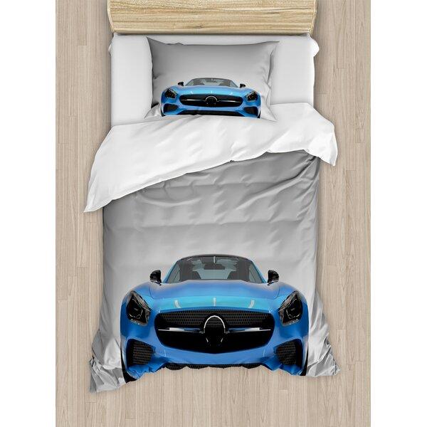 Sports Car Luxury Symbol for Men Trendy Stylish Speed Vehicle Image Duvet Set by East Urban Home