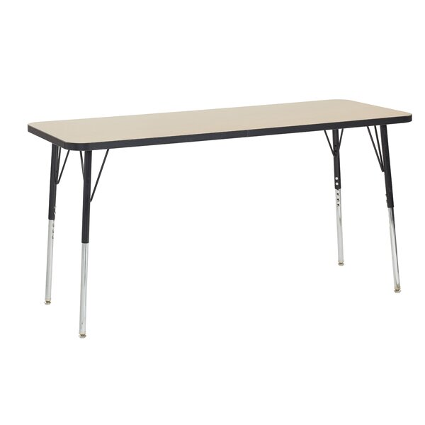 Maple Top Thermo-Fused Adjustable 24 x 60 Rectangular Activity Table by ECR4kids