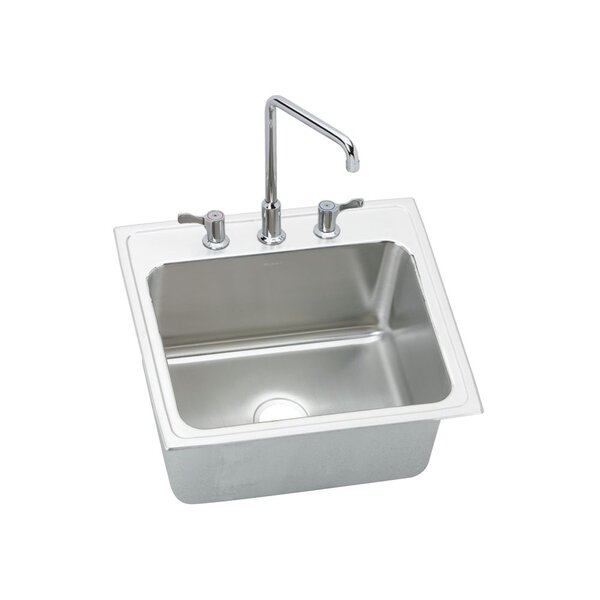 Gourmet 25 L x 22 W x 12.13 Top Mount Kitchen Sink by Elkay