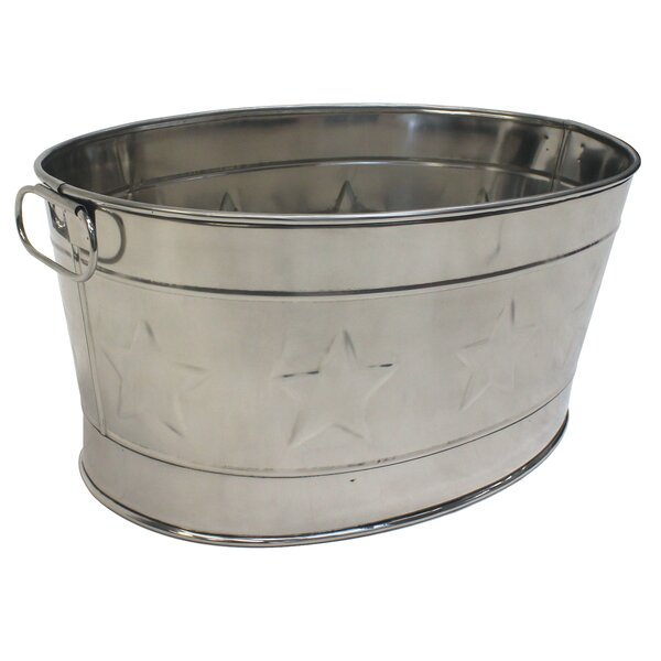 Lotta Stainless Steel Beverage Tub by Laurel Foundry Modern Farmhouse