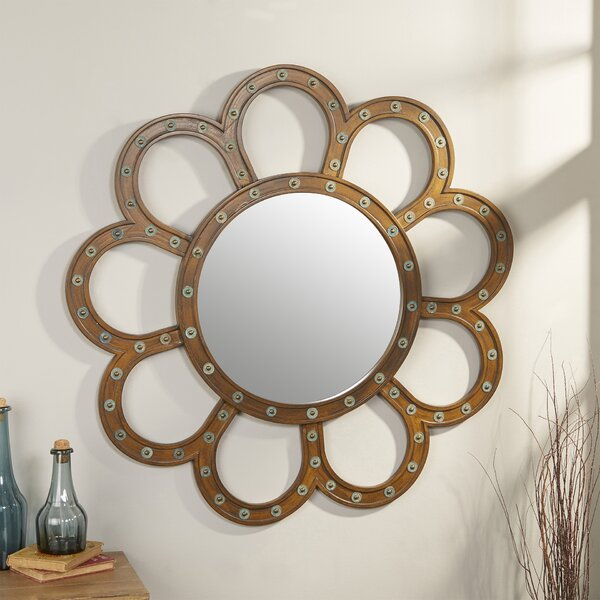 Leontion Wall Mirror by Mercury Row