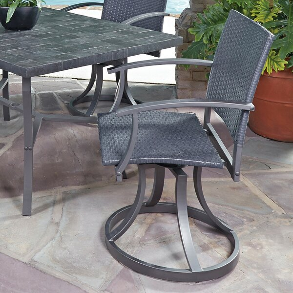 Stone Veneer Swivel Patio Dining Chair by Home Styles Home Styles