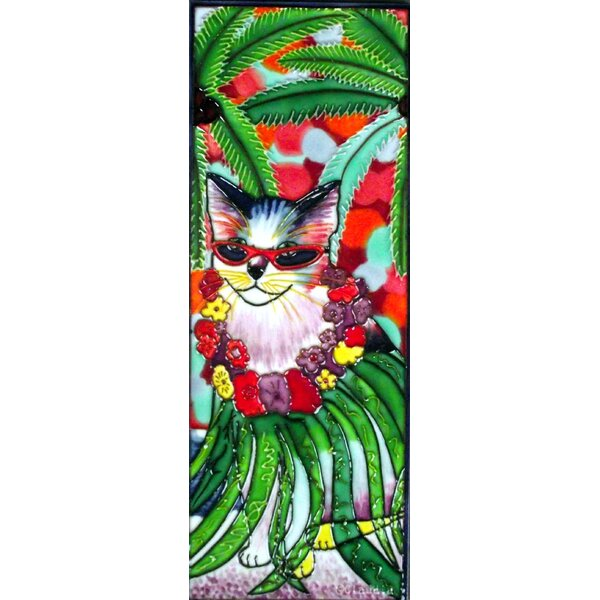 Kula Cat Tile Wall Decor by Continental Art Center