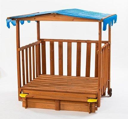 Sand N Shade 4.67 ft. Rectangular Sandbox and Play