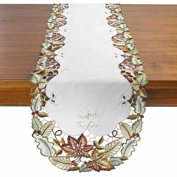 Chiara Autumn Leaves and Berries Table Runner by August Grove