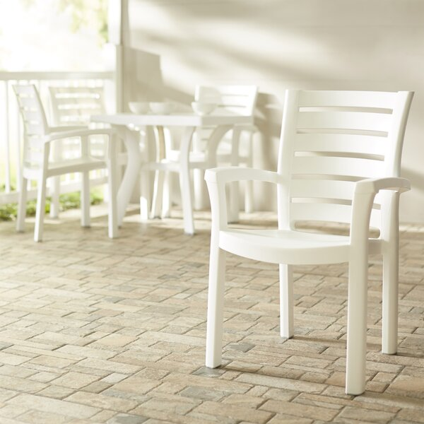 Bargain Stacking Patio Dining Chair (Set Of 4) By Symple Stuff Cool