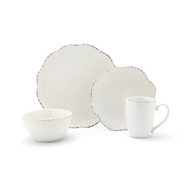 Everly 16 Piece Dinnerware Set, Service for 4 by P