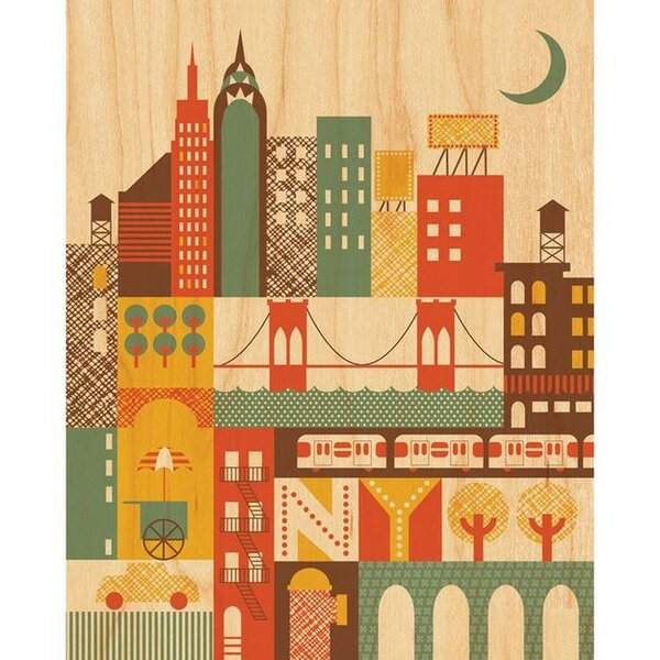 New York Decorative Plaque by Petit Collage