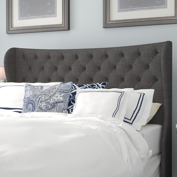 Estefana Upholstered Wingback Headboard by Darby H