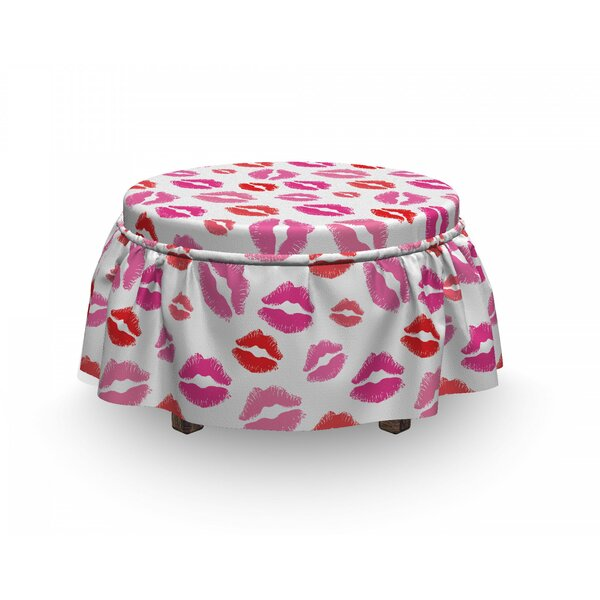 Romantic Kisses Ottoman Slipcover (Set Of 2) By East Urban Home