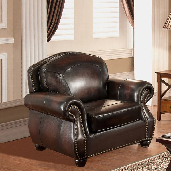 Vail Leather Club Chair by Amax