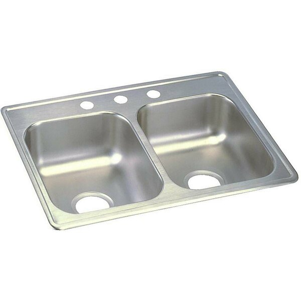 Dayton 25 L x 19 W Double Basin Top Mount Kitchen Sink by Elkay