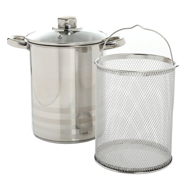 Balfour 4.2 Qt. 3 Piece Stainless Steel Asparagus Multi-pot with Basket Insert by Oster