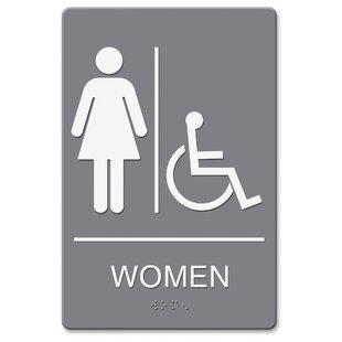 restroom signs. Delighful Restroom Headline WomenWheelchair Image Indoor Sign To Restroom Signs