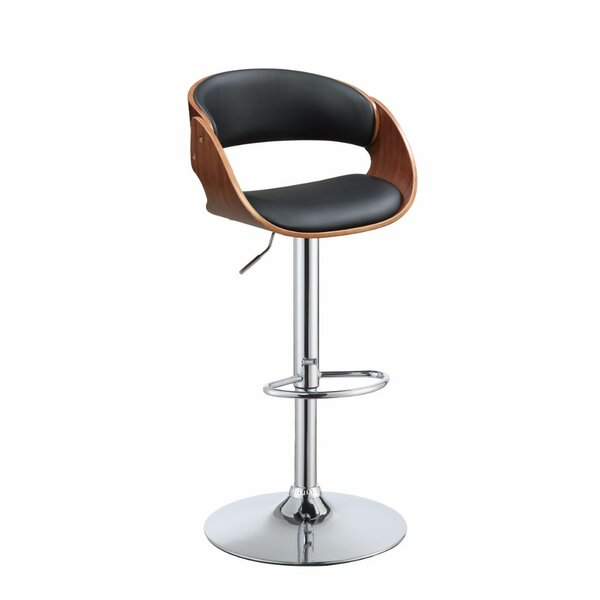 Frias Adjustable Height Swivel Bar Stool by Orren Ellis