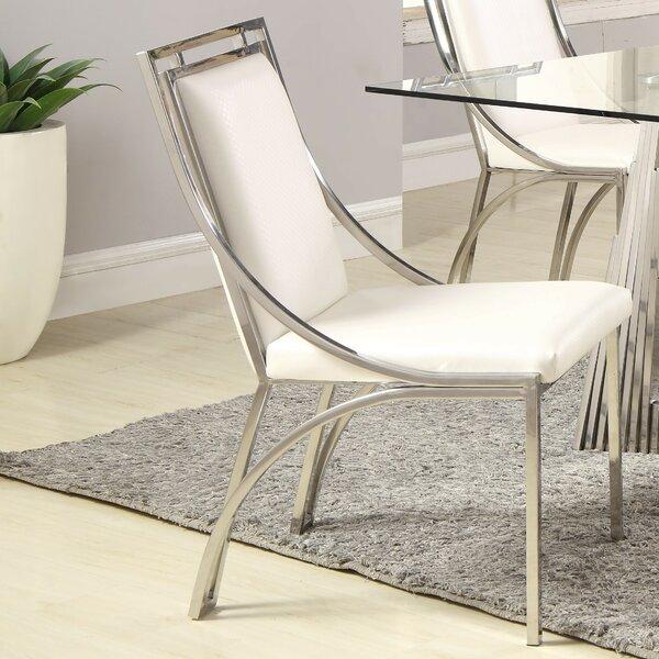 Maribel Upholstered Metal Side Chair (Set Of 2) By Orren Ellis