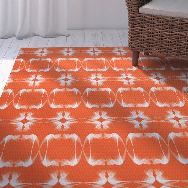 Golden Gate Orange Indoor/Outdoor Area Rug by Beachcrest Home