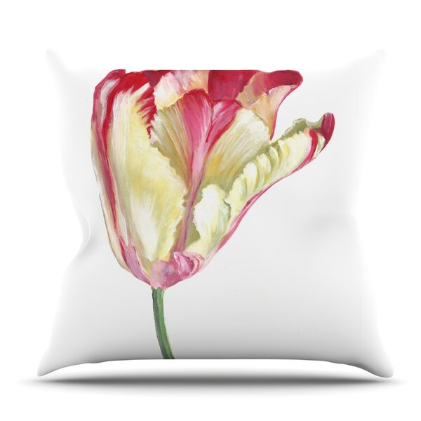 Tip Tulip by Lydia Martin Outdoor Throw Pillow by East Urban Home