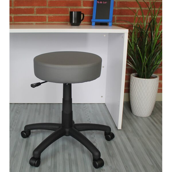 Diahna Height Adjustable Lab Stool with Caster by Ebern Designs
