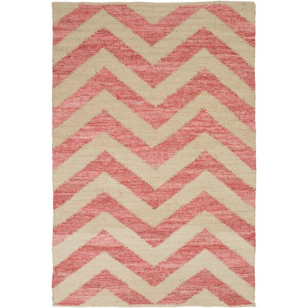 Phillips Beige/Carnation Area Rug by Latitude Run