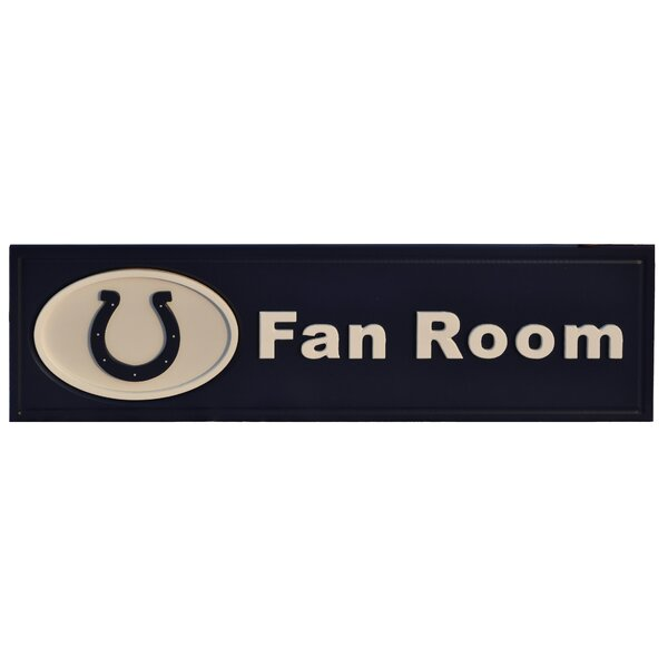 NFL Fan Room Textual Art Plaque by Fan Creations