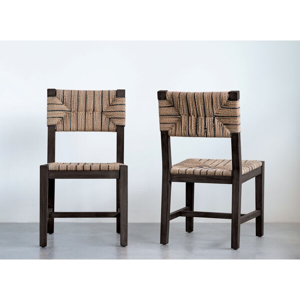 Allenbie Mango Wood Dining Chair by Bungalow Rose