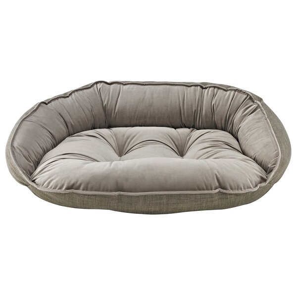 Diam Crescent Bolster Dog Bed by Bowsers