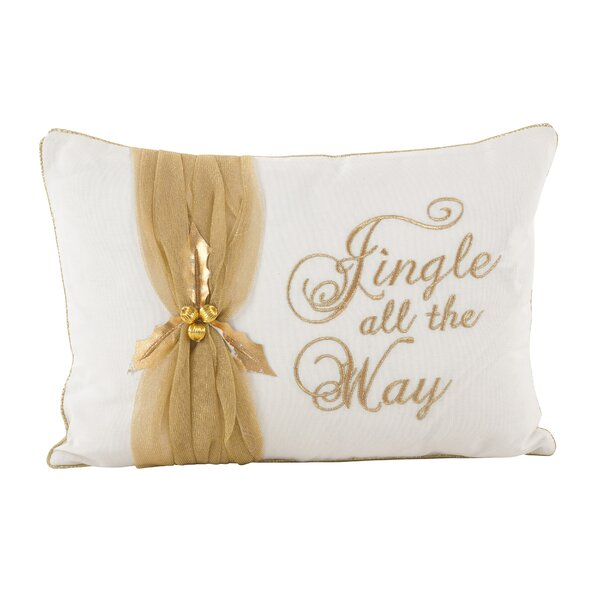 Jingle All the Way Christmas Design Decorative Cotton Lumbar Pillow by The Holiday Aisle
