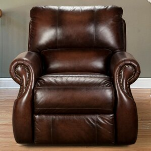 Hardcastle Leather Power Recliner by Darby Home Co