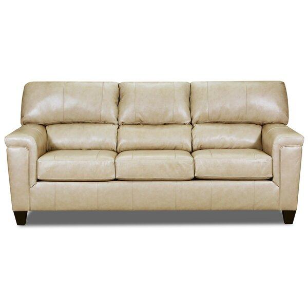 Zamudio Leather Sofa By Winston Porter
