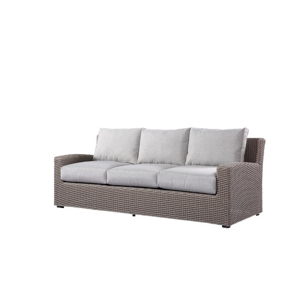 Pleasant Avenue Patio Sofa with Cushions by Rosecliff Heights