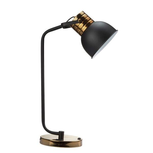 Geil 24.5'' Black Desk Lamp and Outlet (Set of 2)